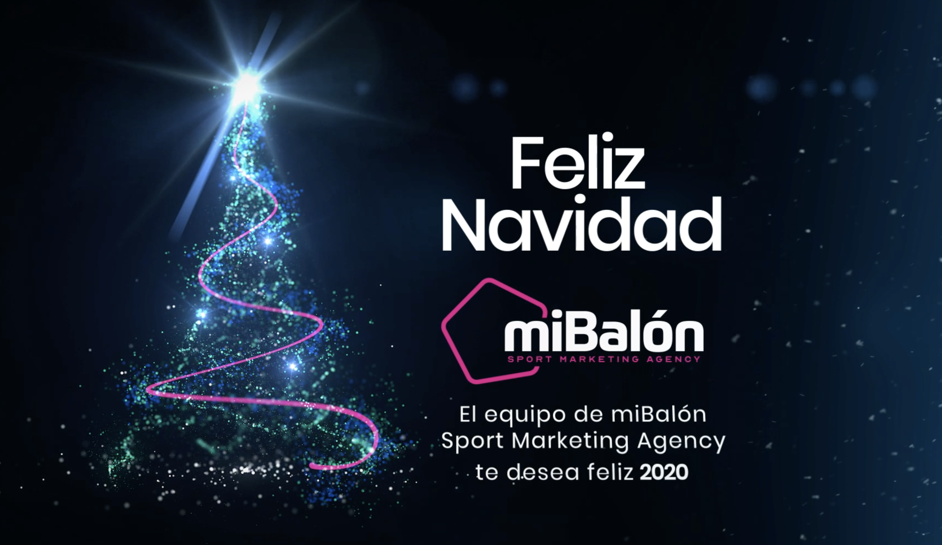miBalón Sport Marketing Agency te desea felices fiestas.